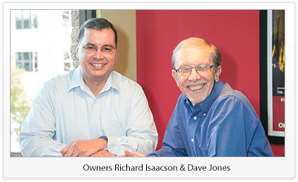 Owners Richard Isaacson  								& Dave Jones
